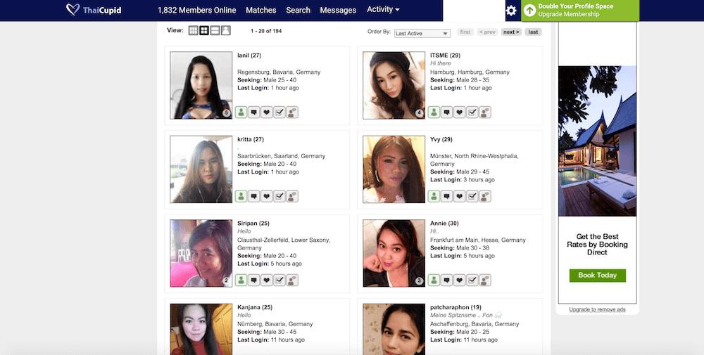 ThaiCupid Profile und Suchergebnisse